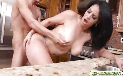 Cristal gets on all fours and sucks Tyler's dick