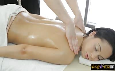 Cute babe Betty finger fucks and banged by her masseur