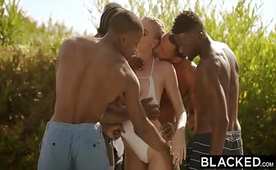 BLACKED Kendra Sunderland Interracial Gangbang
