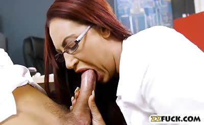 Giant boobs milf Emma Butt with glasses gets pounded