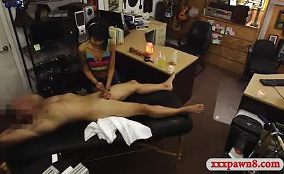 Petite asian gets her twat smashed by nasty pawn man