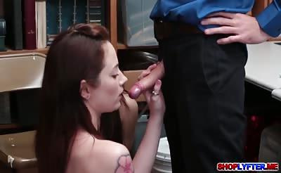 Horny cop hot 3some sex with Jojo and Rylee