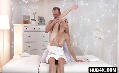 Russian Babe Nela Angel Gets Banged By Masseur