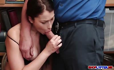 Jennifer Jacobs gets a hot sex with the horny cop