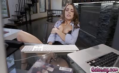 Angela licks Kimmy's horny pussy