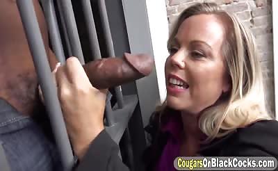Interracial fucking with Amber Lynn