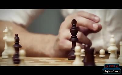 Russian busty MILF Subil Arch fucks after a game of chess