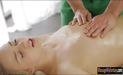 Pretty babe Milana Fox gets fucked by her nasty masseur