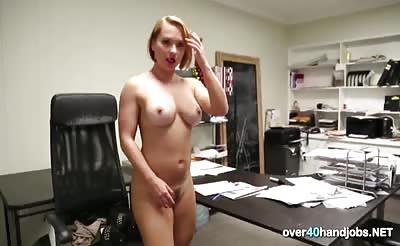 Get a handjob from the Blonde MILF by over50Handjobs
