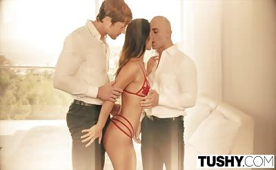 TUSHY Eva Lovia First Double Penetration
