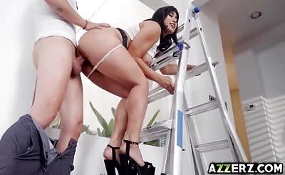 Friendly neighbor bangs with Asian wife Mia Li