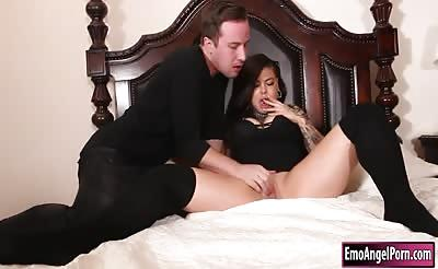 Busty punk babe Victoria Villain pounded