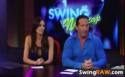 Horny couples have fun in crazy swinger reality show