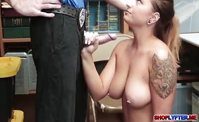 Big tits Dakota Rain got fucked by the cop