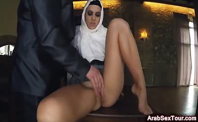 Slutty muslim wife treats tourist well
