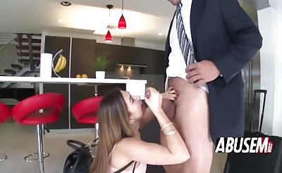 Melissa Moore begs guy for hard dick sex
