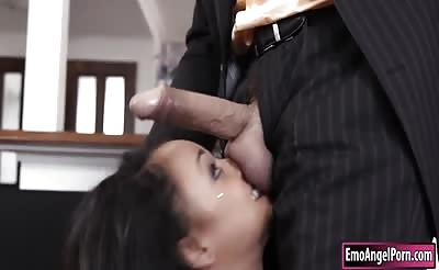 Petite goth Holly Hendrix anal pounded by throbbing cock