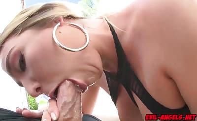 Blair Williams got her asshole stuffed by a big cock