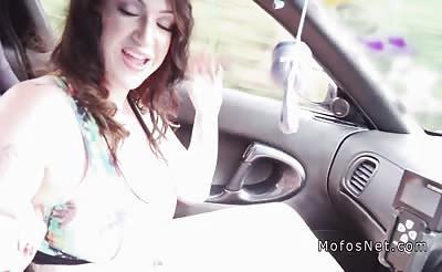 Huge tits hitchhiker bangs outdoor