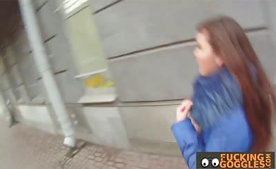 Cute Czech teen fucks total stranger