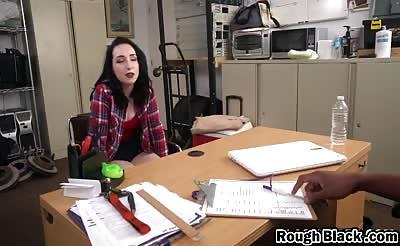Robust secretary has a glorious ass