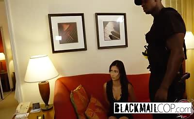 Black cop pounding petite girl
