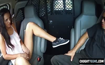 Hitchhiking Teen gets used