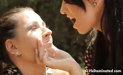 Lesbians in a strapon fuck