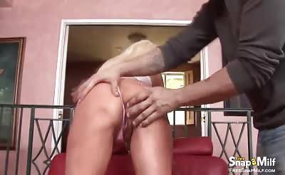 Huge boobed MILF rides cock like crazy