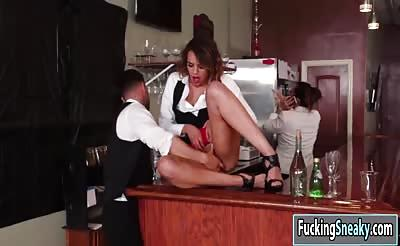 Horny babe Eve Ellwood getting fucked by her co worker