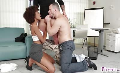 Corazon Luna rides Paul Fresh on top of his cock