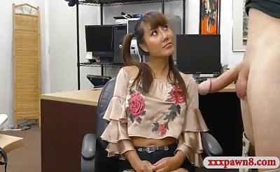 Sexy asian sells her samurai and pounded by pawn dude