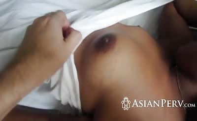 Asian cutie riding monster dick