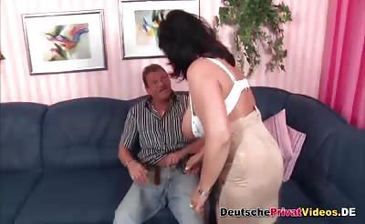 Fat German mature sucks and fucks