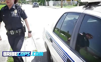 Glorious police bitches feeling a big criminal dong