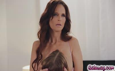 Stepmom Syren gets her panties wet