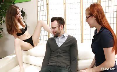 Hot threesome fucking