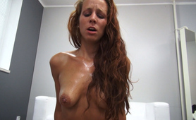 Passionate Redhead Gets Hard Fuck with Happy Ending