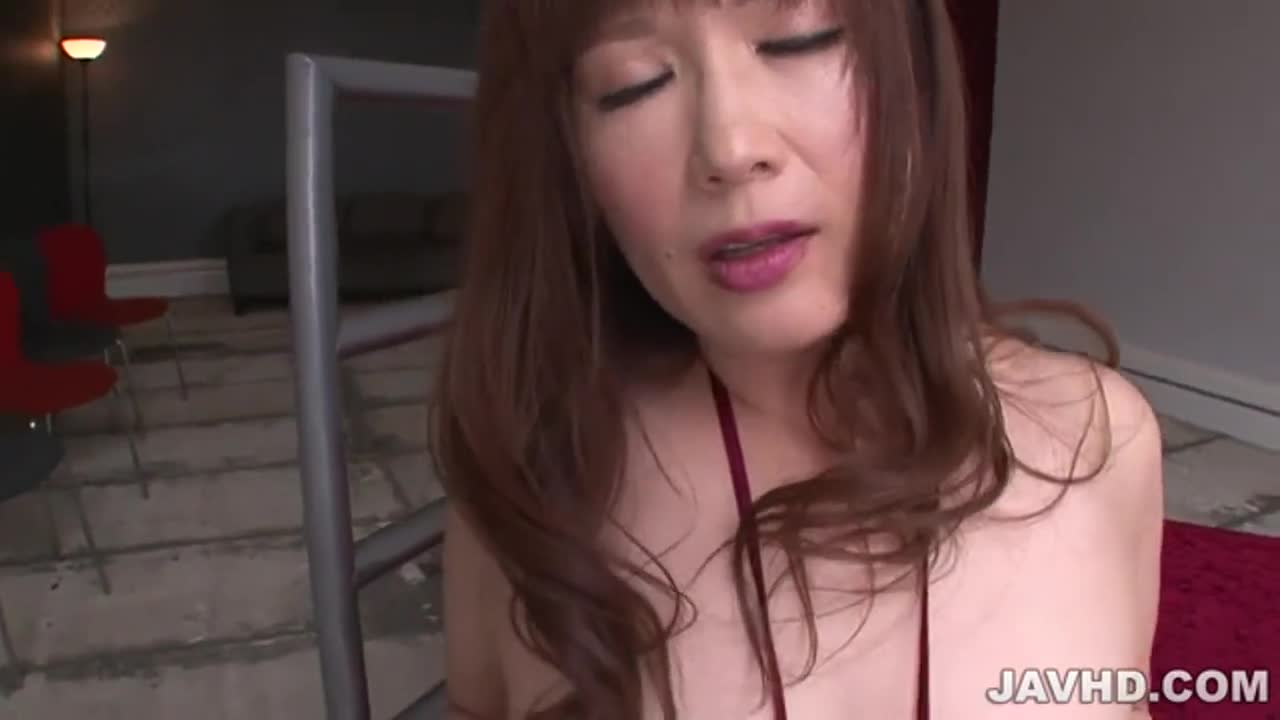 Reiko Shimura strokes a huge dick before riding