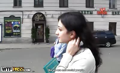 Next door blonde in anal public fuck