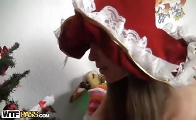 Anal sex with Santa panda bear