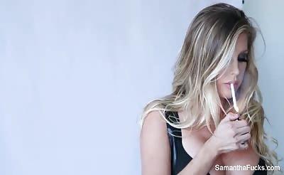 Samantha Saint Hot Behind The Scenes Fun