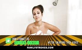 FamilyStrokes - My Showering Stepsis